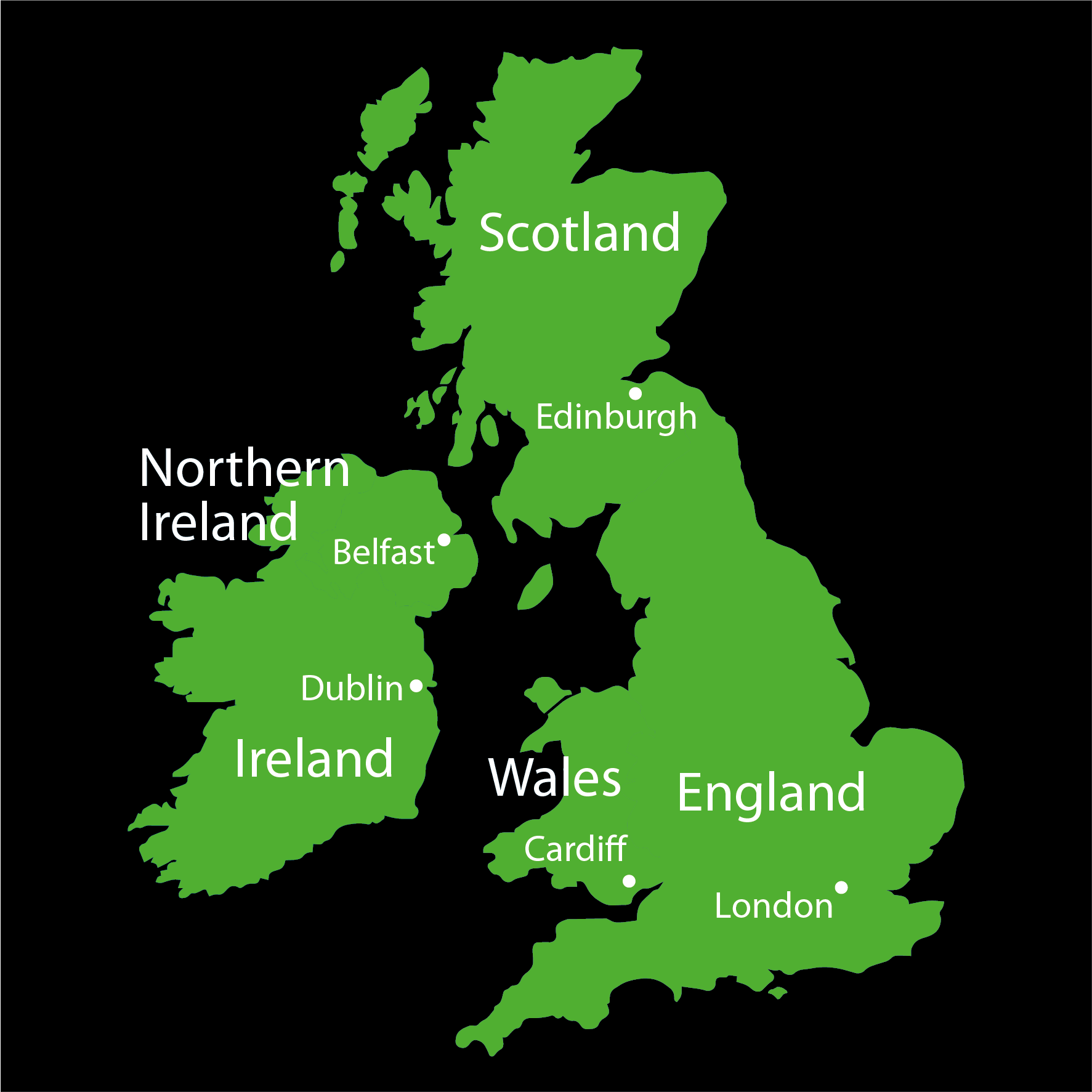 Map Of Major Uk Cities.British Isles Maps