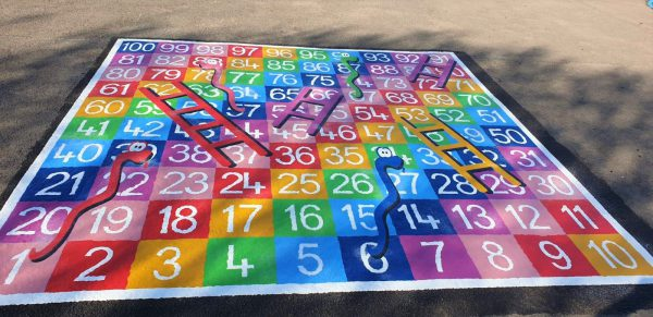TMG003-100F (1) Snakes and Ladders 1-100 Full Solid