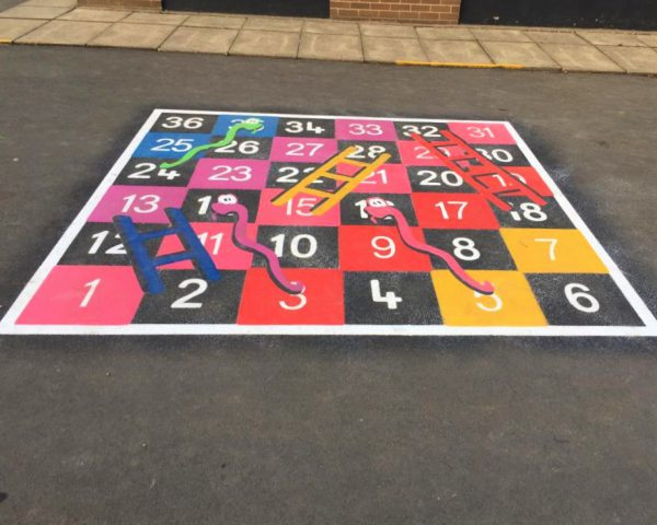 TMG003-36LH Snakes and Ladders 1-36 Large Half Solid