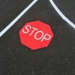 stop sign thermoplastic playground marking
