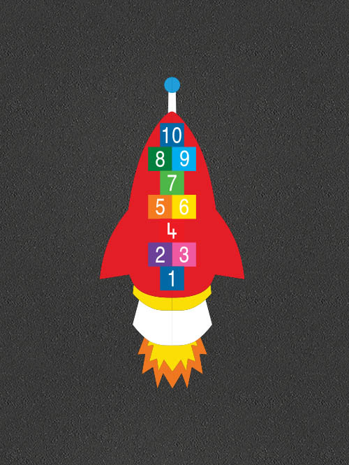 TMG001-R Rocket Hopscotch
