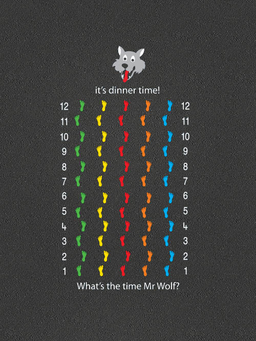 TMG005-FP5H Mr Wolf Footprints Half