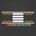 TMR014 Stop Look Listen Zebra Crossing