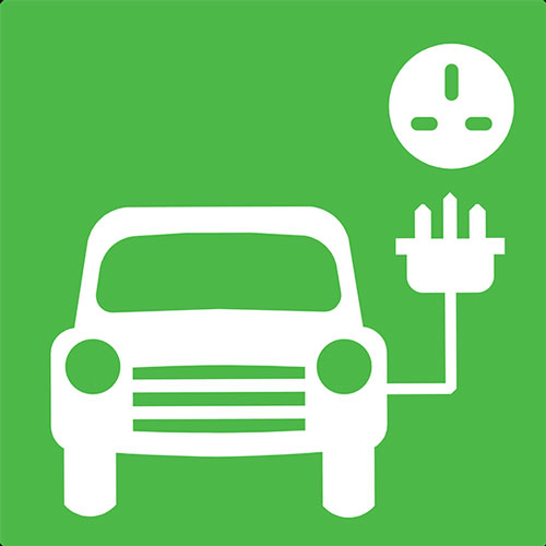 Electric Car Charging Point Symbol