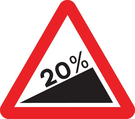 steep hill upwards warning sign markingsthermmark
