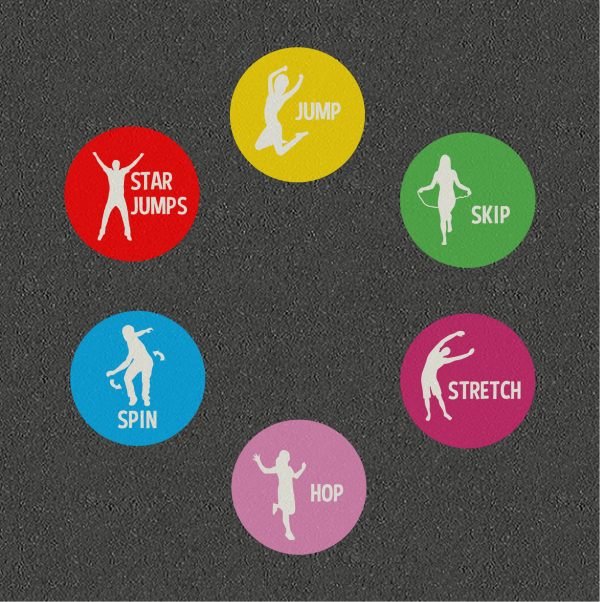 TMF020-S Fitness Activity Circles Solid