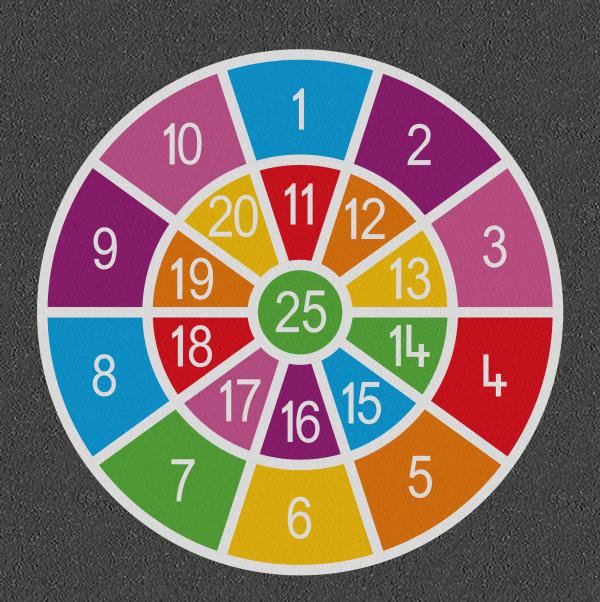 TMG002-25S Number Target 1-25