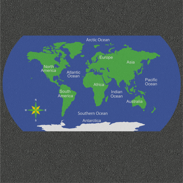 TME017-W World Map