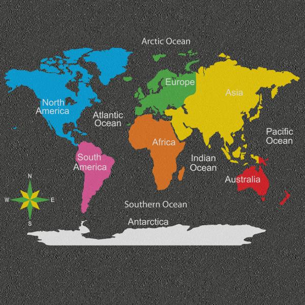 TME017-WMC World Map Multicoloured