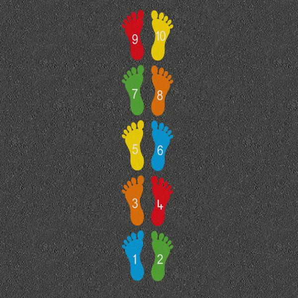 TME015-NF10 Number Footprints 1-10